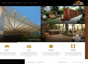 Web3D | עיצוב אתרים | בניית אתר תדמיתי: ברנשטיין פרגולות ודקים