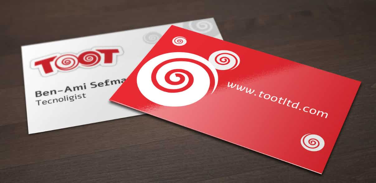 Web3D - מיתוג עסקי - כרטיס ביקור של חברת toot