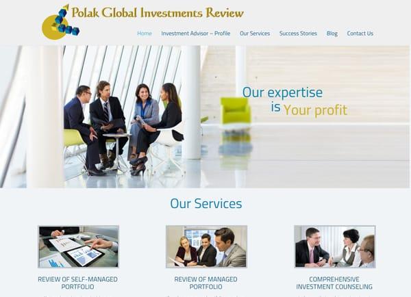 Web3D | בניית אתר תדמיתי: Polak Investment