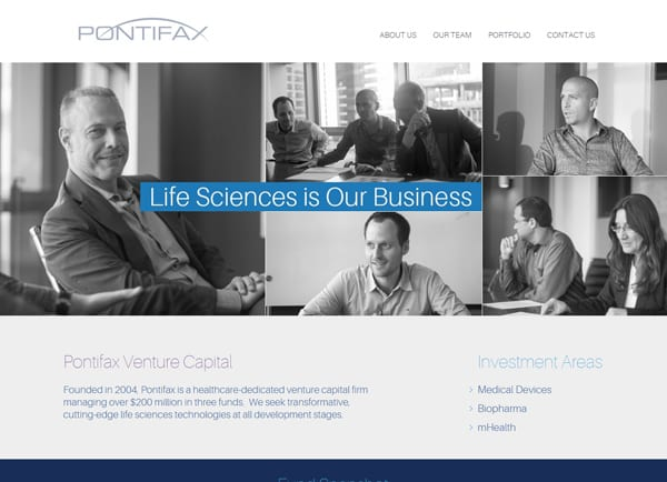 pontifax – עיצוב אתר אינטרנט
