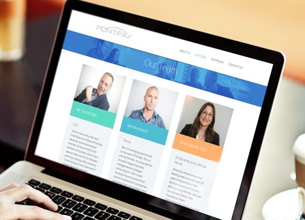 web3d, הקמת אתרים, עיצוב אתר תדמית, pontifax