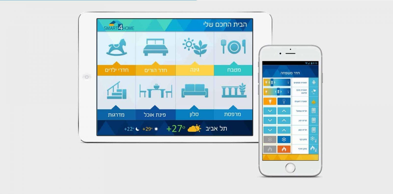 smart4home, מיתוג לעסק, עיצוב אפליקציה
