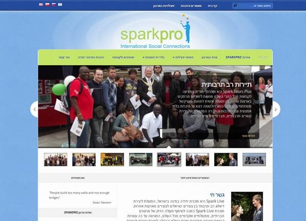Web3D | הקמת אתרים | בניית אתר: SparkPro