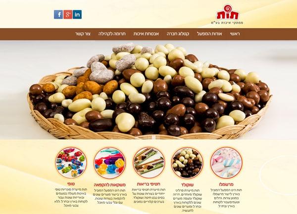 Web3D | בניית אתר וורדפרס: חברת תות ממתקי איכות