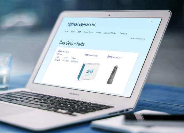 web3d, לפטופ, Upheal, אתר תדמית לעסק