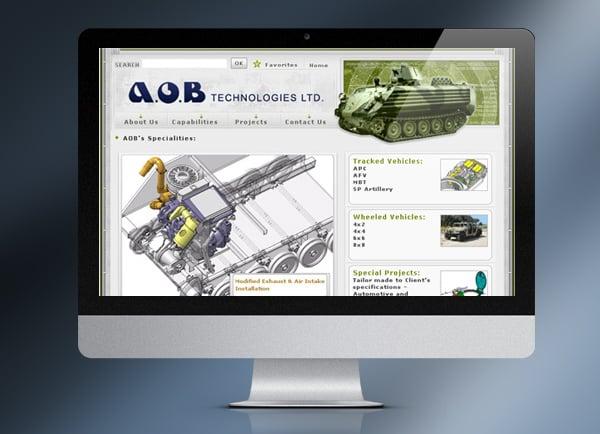 aob, בניית אתר תדמית, בניית אתר חנות וירטואלית