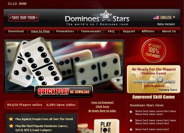 Dominoes Stars, בניית אתר אינטרנט, בניית אתר סחר