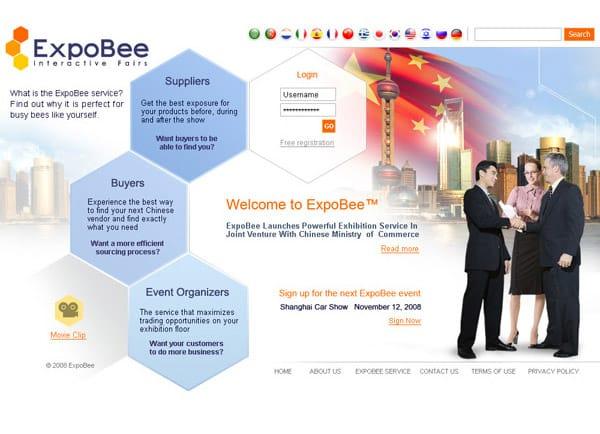 בניית אתר: ExpoBee