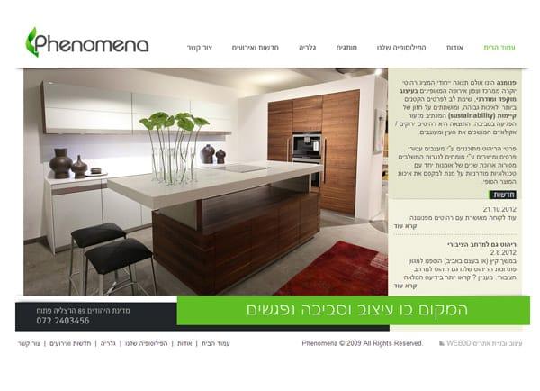 בניית אתר: פנומנה