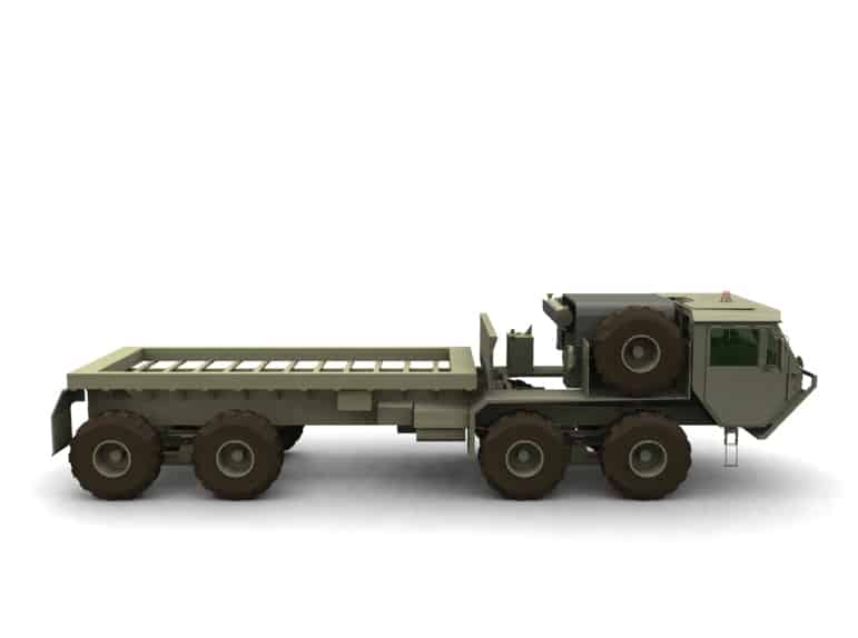 הדמיות ייצור, תעשייה בטחונית: רכב שיגור טילים