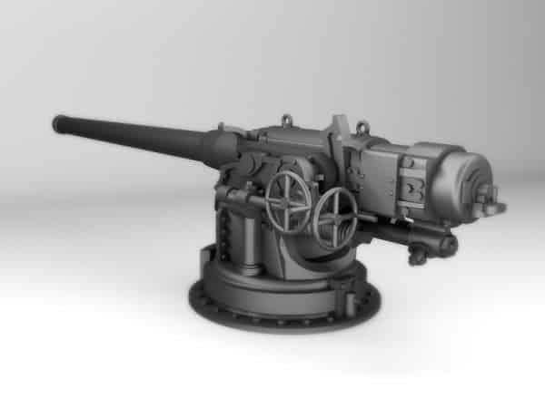Web3D - תלת מימד - דגם של אקדח