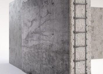 הדמיות תלת מימד | תעשייה | הדמיית קיר בטון פרויקט