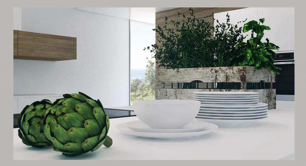 הדמיות תלת מימד   אדריכליות   הדמיית מטבח מודרני