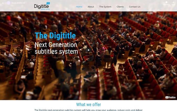 בניית אתר אינטרנט   הקמת אתר: Digititle תנומה ראשית של פרויקט