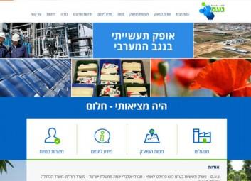 """פיתוח ועיצוב אתר אינטרנט : נ.ע.ם – פארק תעשיות בע""""מ פרויקט"""