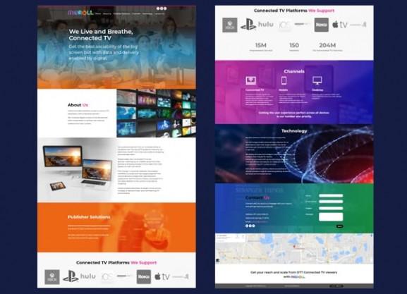 web3d, פיתוח מיניסייט, one page site