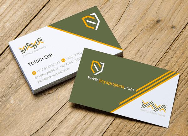 עיצוב כרטיסי ביקור, ya ya projects, web3d