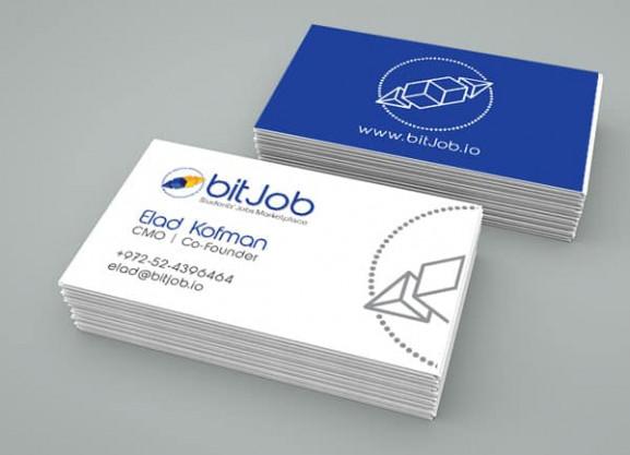עיצוב כרטיסי ביקור, bitjob, מיתוג לעסק