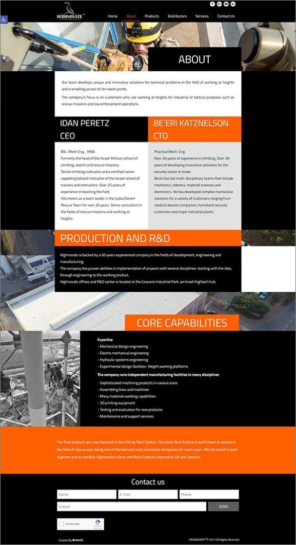 פיתוח אתר, highnovate, עיצוב סטריפ פנימי