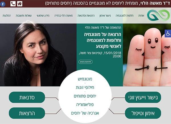 תכנון אתר אינטרנט: מאשה הלוי – יחסים פתוחים תנומה ראשית של פרויקט