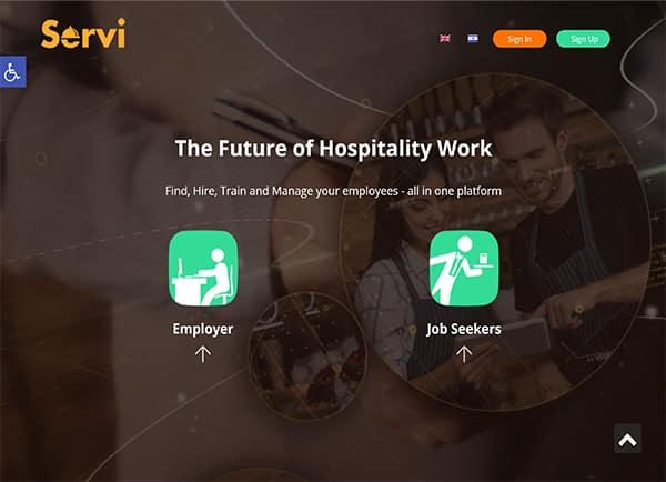 הקמת אתר: Servi – ניהול כוח אדם בענף האירוח תנומה ראשית של פרויקט