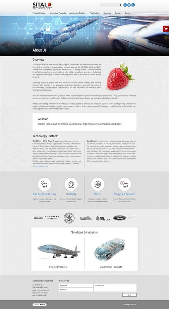הקמת אתר קטלוג, sital, אפיון, עיצוב