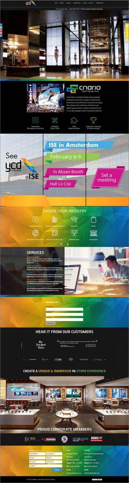 תכנות אתרים, ycd multimedia, עיצוב דפים פנימיים