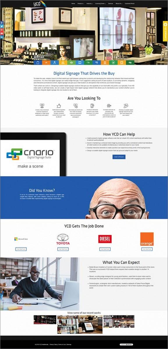 תכנות אתרים, ycd multimedia, עיצוב עמוד פנימי