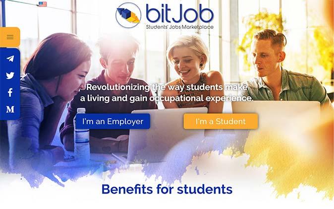 הקמת אתר: Bitjob תנומה ראשית של פרויקט