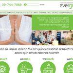 בניית אתר evergreen, עיצוב עמוד ראשי