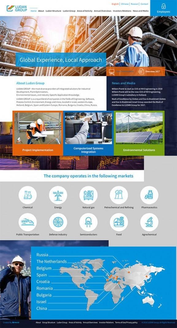 web3d, בניית אתר תדמית Ludan Group