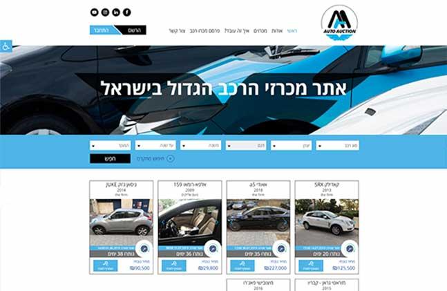 Auto Auction אתר מכרזי רכב: תנומה ראשית של פרויקט