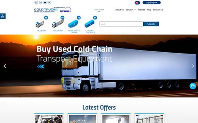 פיתוח אתר אינטרנט: Cold Truck תנומה ראשית של פרויקט