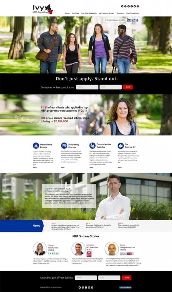 Ivy MBA Consulting, פיתוח אתרים, בניית אתרים SEO