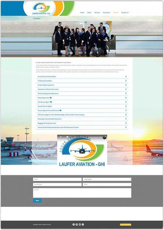 Laufer Aviation עיצוב אתר