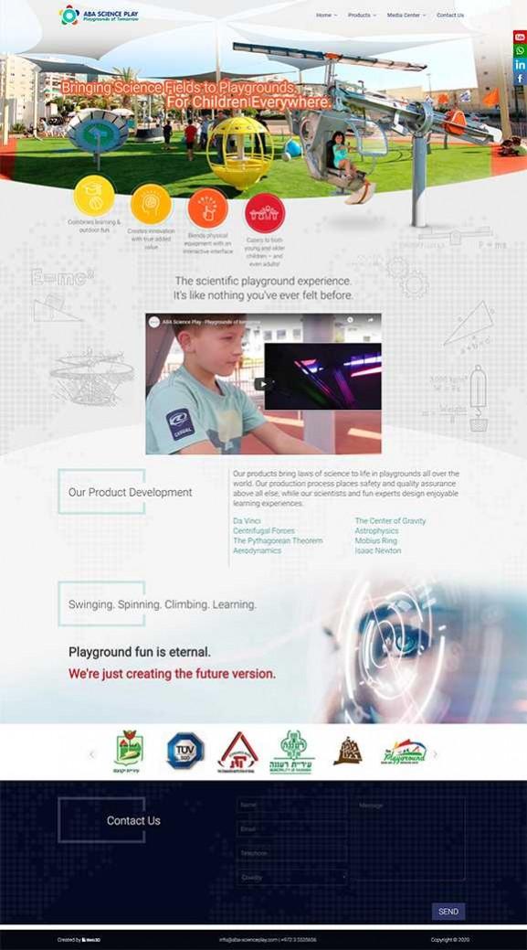 ABA Science Play, עיצוב אתרים