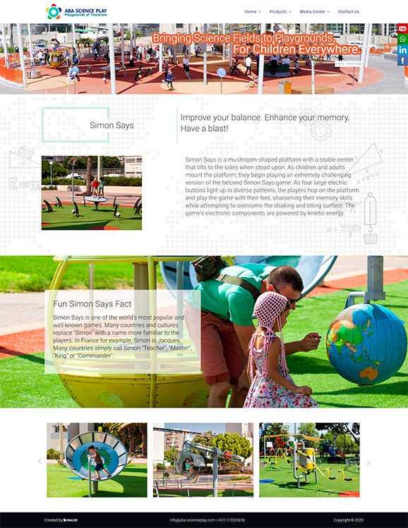 ABA Science Play, בניית אתרים