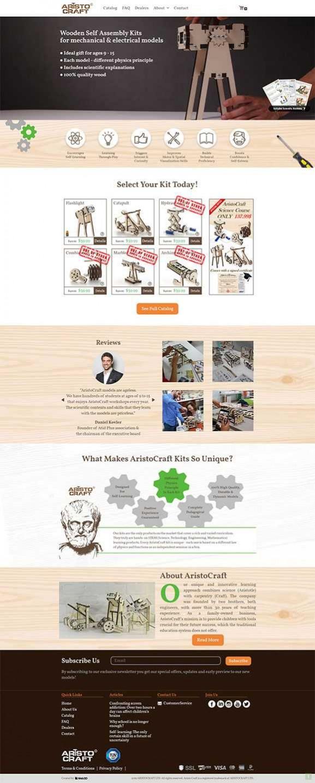 אריסטוקרפט, עיצוב אתר