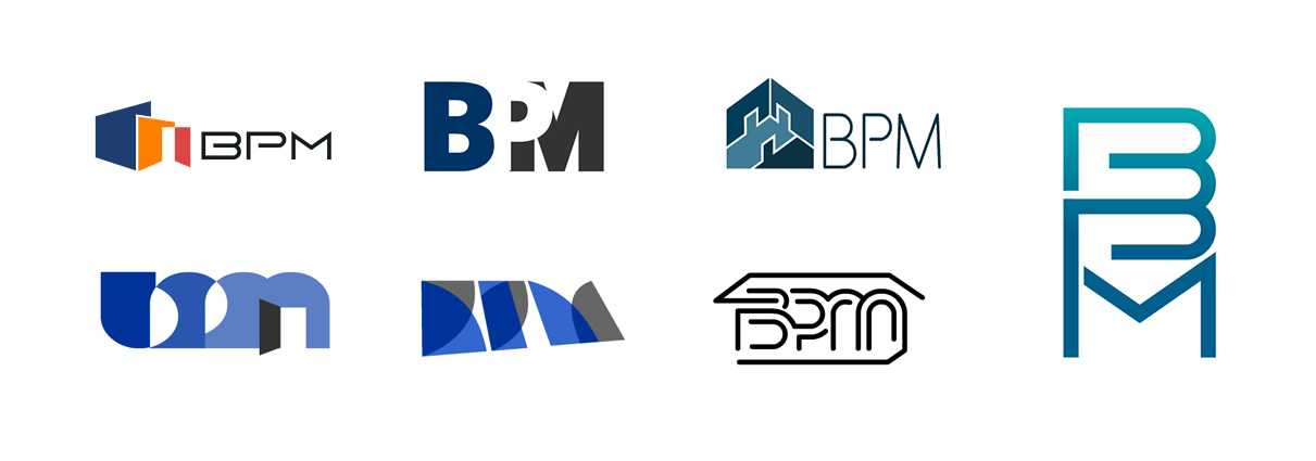 bpm עיצוב לוגו