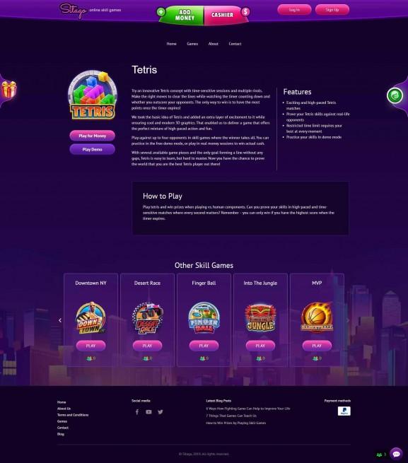 אתר אינטרנט למשחקים Sitago