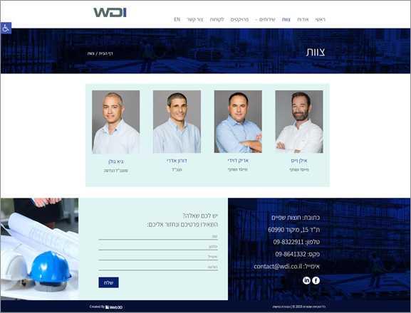 איפיון אתר אינטרנט ,WDI
