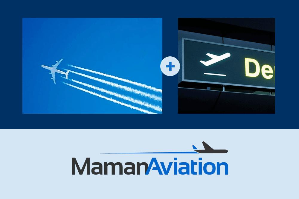 מיתוג של Maman Aviation לוגו