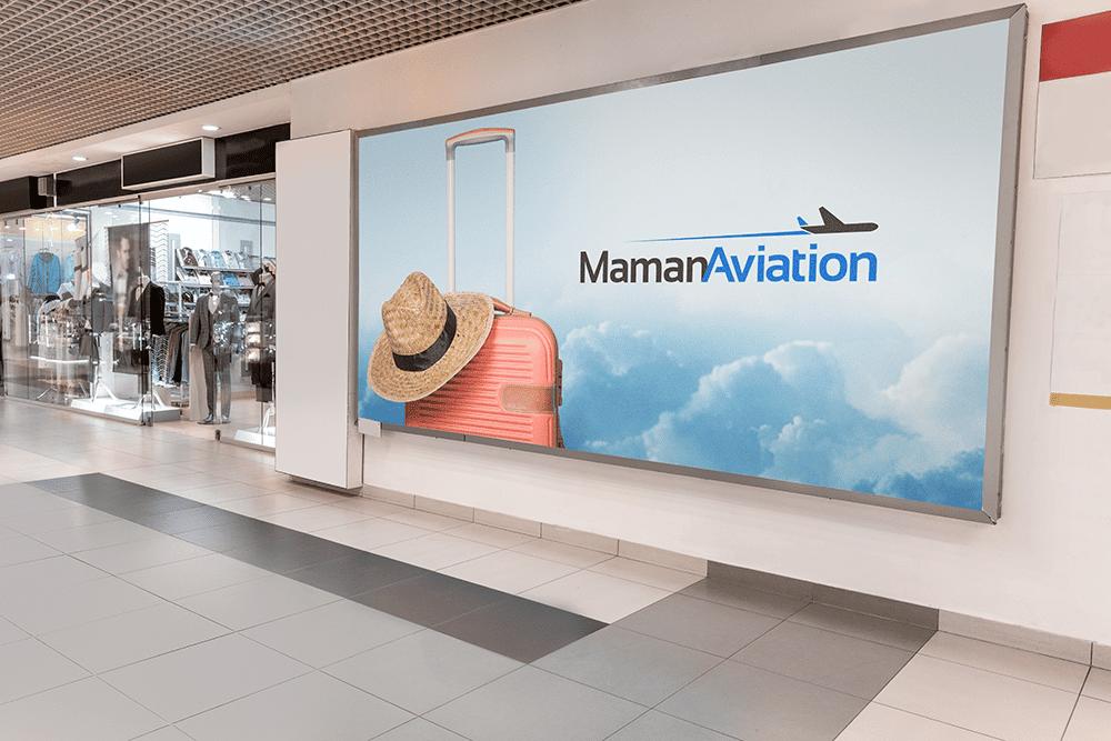 מיתוג של Maman Aviation מודעת חוץ