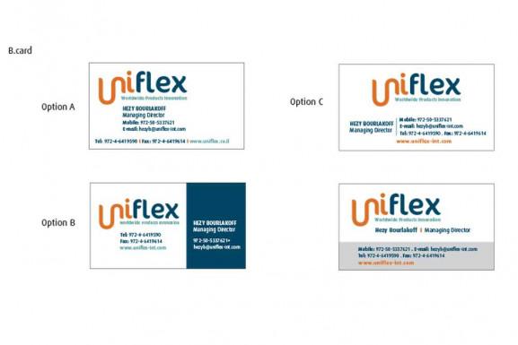 עיצוב כרטיס ביקור יוניפלקס