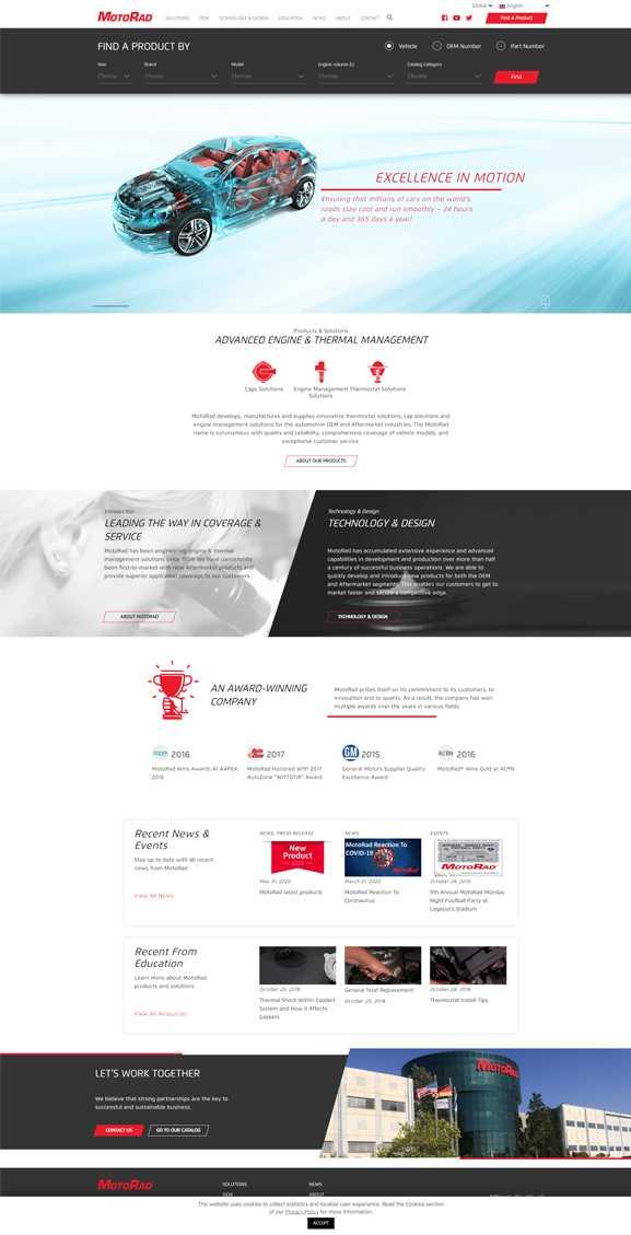 MotoRad פיתוח מולטי אתר