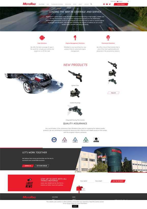 MotoRad הקמה ופיתוח אתר מורכב