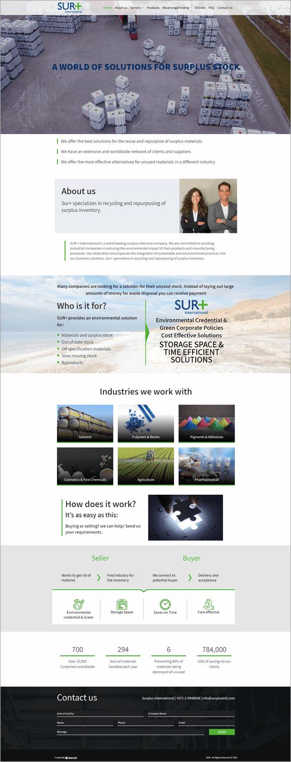 Sur+ הקמת אתר תדמית
