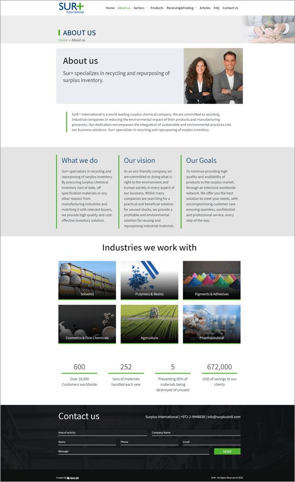 Sur+ עיצוב אתר תדמית