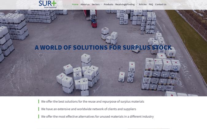 הקמת אתר אינטרנט: Sur+ תנומה ראשית של פרויקט