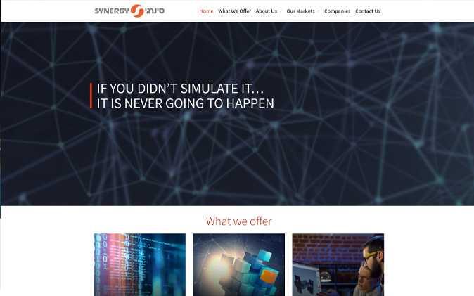 הקמת אתר תדמיתי: Synergy תנומה ראשית של פרויקט